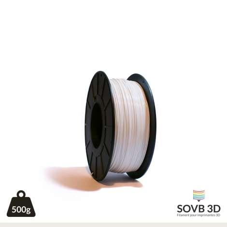 Fil PLA Blanc 3mm 500g