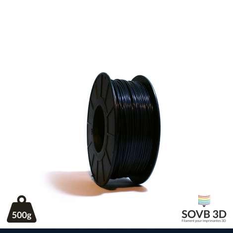 Fil PLA Noir Bleuté 3mm 500g