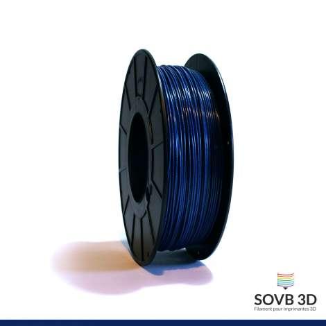Fil PLA Bleu nuit alumine 3mm 1Kg