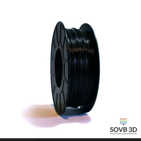 Fil PLA Noir alumine 3mm 1Kg
