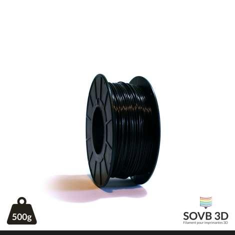 Fil PLA Noir alumine 1.75mm 500g